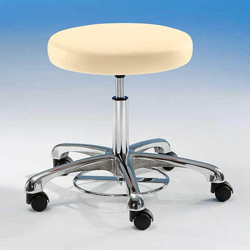 Comfort Stool With Foot Ring Height Adjuster