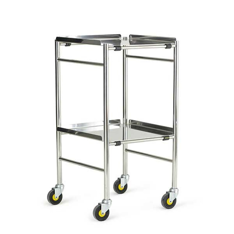 """Glamorgan Trolley With Stainless Steel  Shelves - 18"""""""