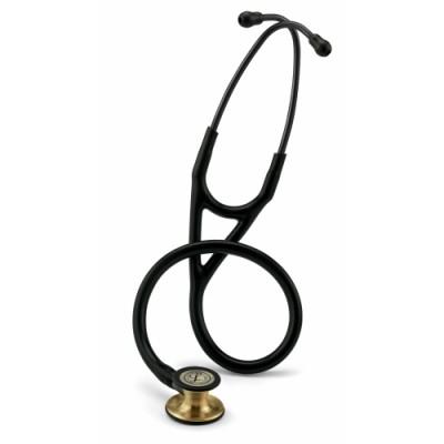 3M™ Littmann® Cardiology IV™ Stethoscope - Brass, Black Tubing