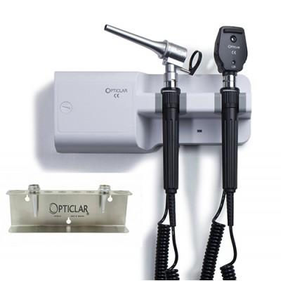 Opticlar Visionvet Standard Diagnostic Set With Twin Handle Wall Unit, 3 Metal Tips & Tip Tidy