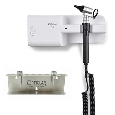 Opticlar Veterinary Otoscope Wall Unit With 3 Metal Tips