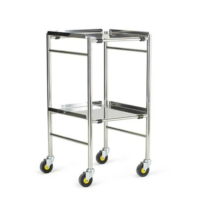 Glamorgan Trolley With Stainless Steel  Shelves - 18""
