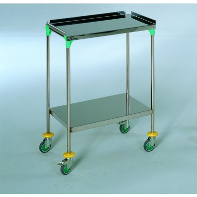 AW Select Treatment Trolley 600mm Height - Guard Lip & 2 Shelves